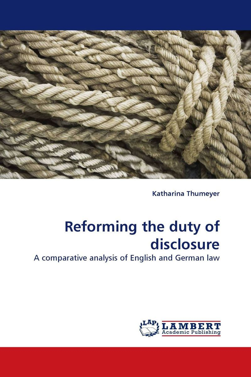 купить Reforming the duty of disclosure недорого