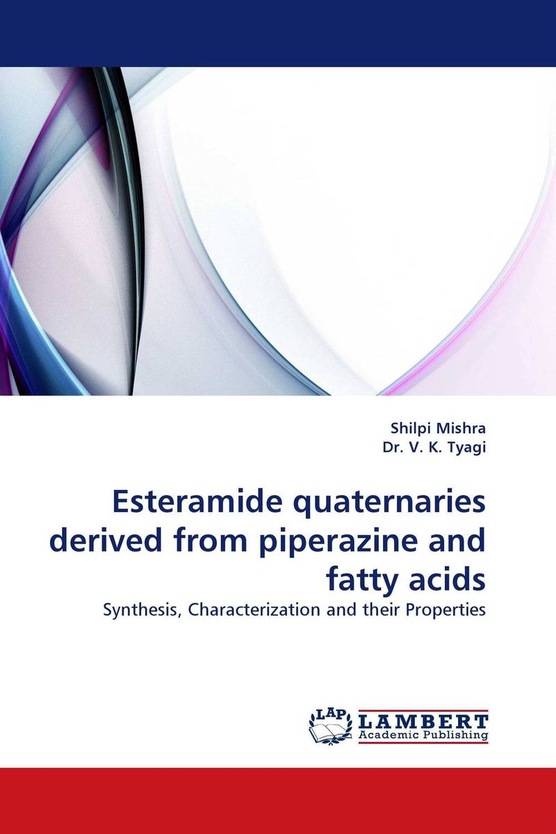 Esteramide quaternaries derived from piperazine and fatty acids studies on schiff bases derived from acetophenones