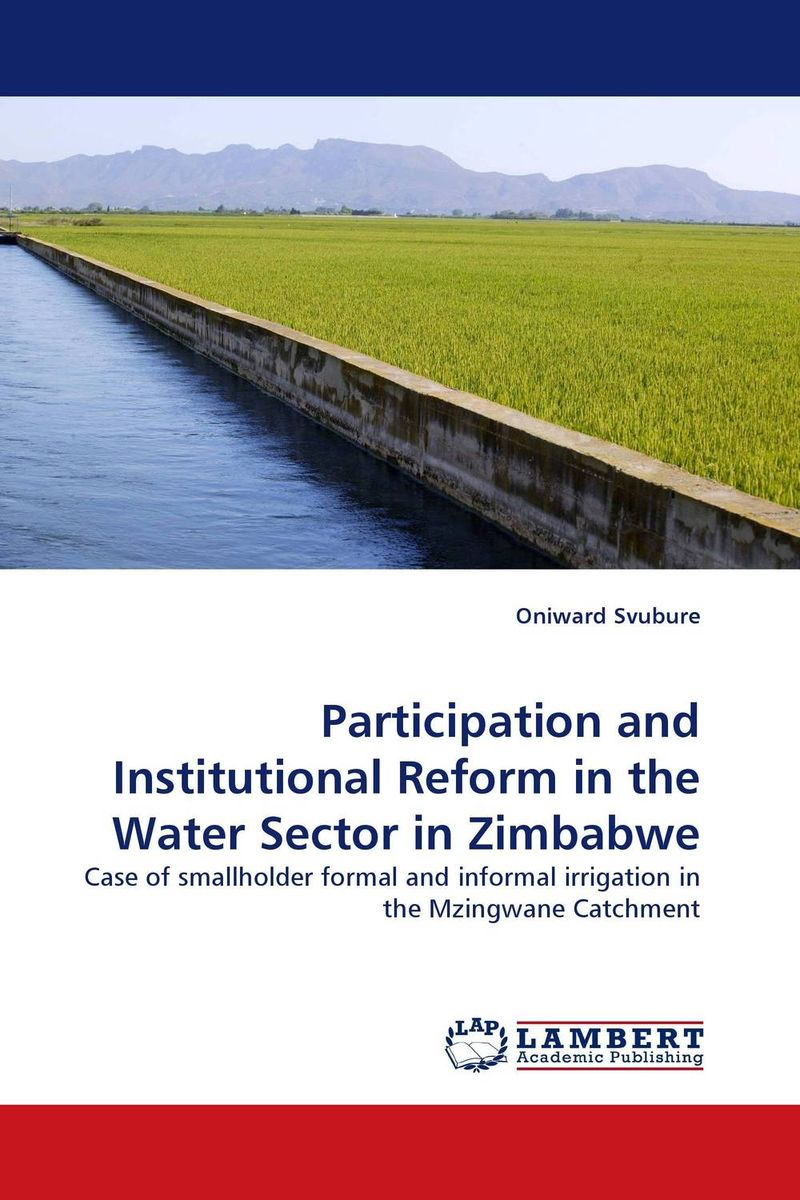 Participation and Institutional Reform in the Water Sector in Zimbabwe jaynal ud din ahmed and mohd abdul rashid institutional finance for micro and small entreprises in india