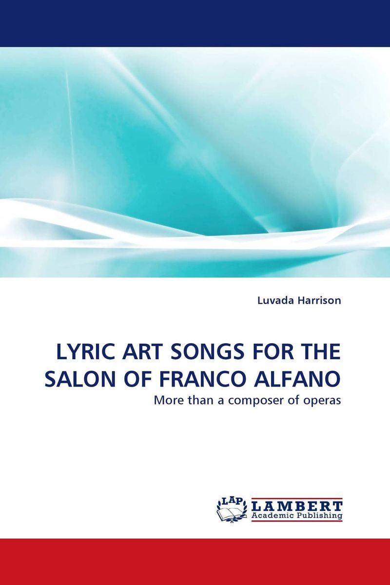 LYRIC ART SONGS FOR THE SALON OF FRANCO ALFANO the art of shaving дорожный набор с помпой carry on сандал