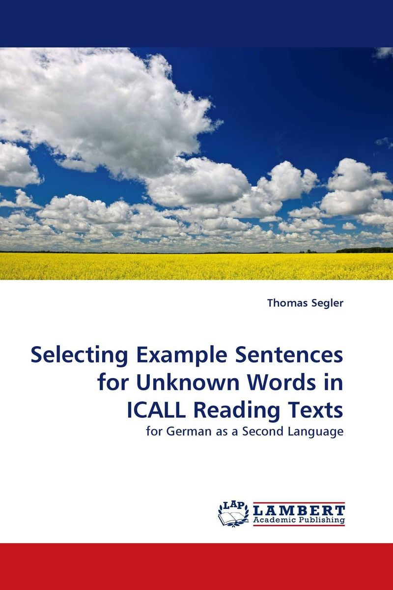 цены на Selecting Example Sentences for Unknown Words in ICALL Reading Texts в интернет-магазинах