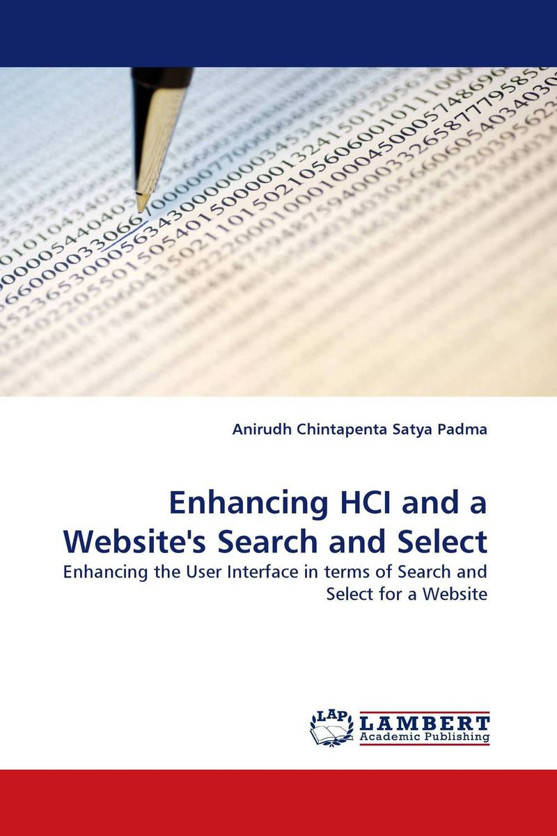 Enhancing HCI and a Website''s Search and Select