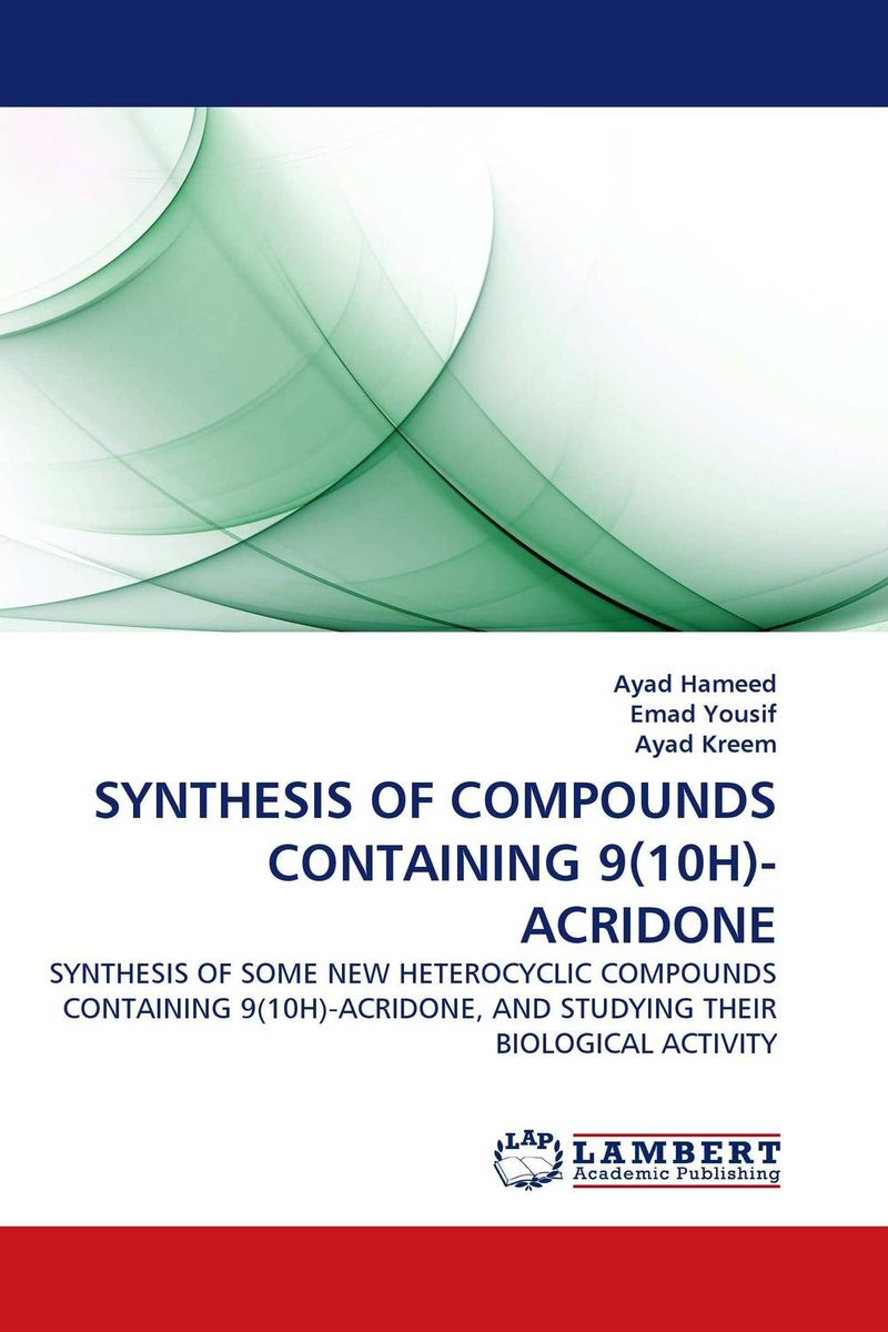 SYNTHESIS OF COMPOUNDS CONTAINING 9(10H)-ACRIDONE nify benny and c h sujatha enrichment of sulphur compounds in the cochin estuarine system