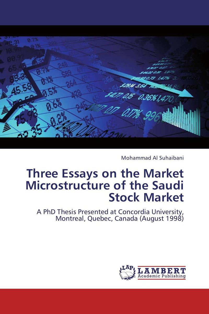 Three Essays on the Market Microstructure of the Saudi Stock Market