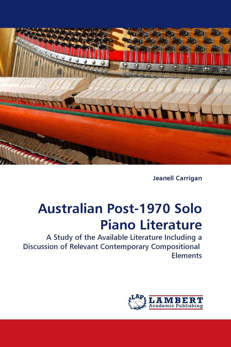 Australian Post-1970 Solo Piano Literature