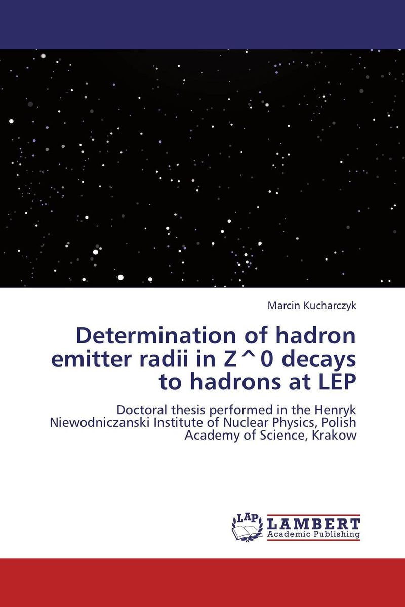 Determination of hadron emitter radii in Z^0 decays to hadrons at LEP