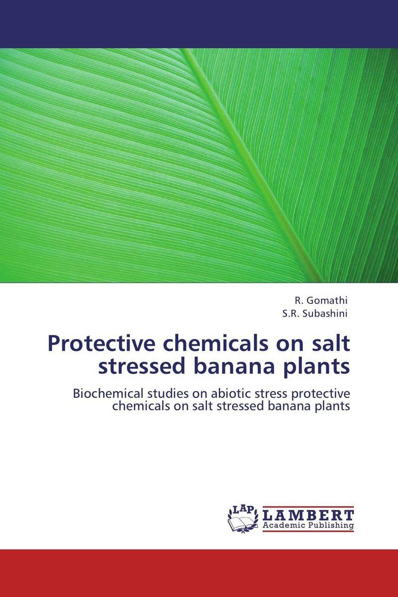 Protective chemicals on salt stressed banana plants