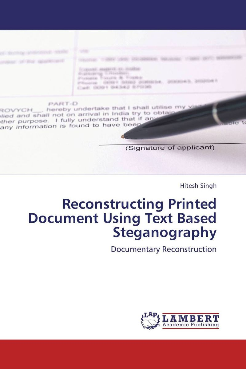 Reconstructing Printed Document Using Text Based Steganography new methods of source reconstruction for magnetoencephalography