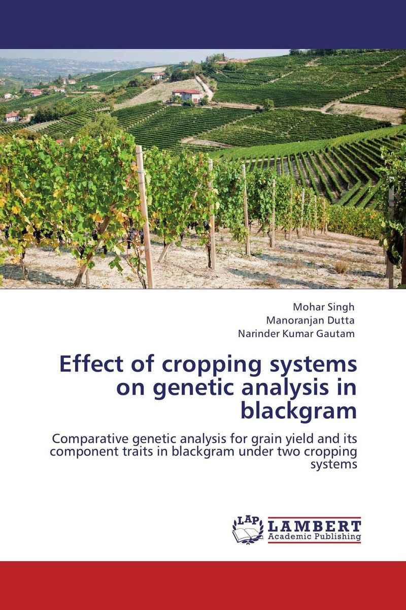 Effect of cropping systems on genetic analysis in blackgram