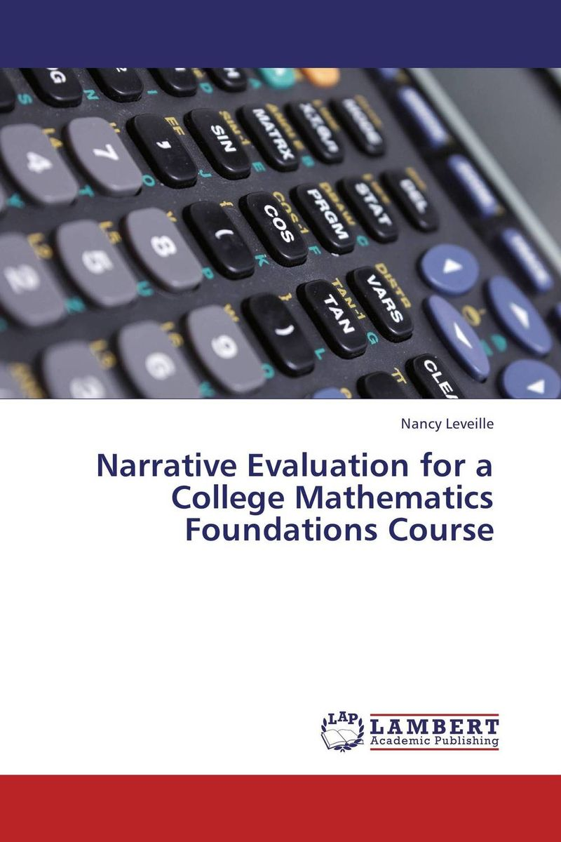 Narrative Evaluation for a College Mathematics Foundations Course люстра odeon light 2598 6c