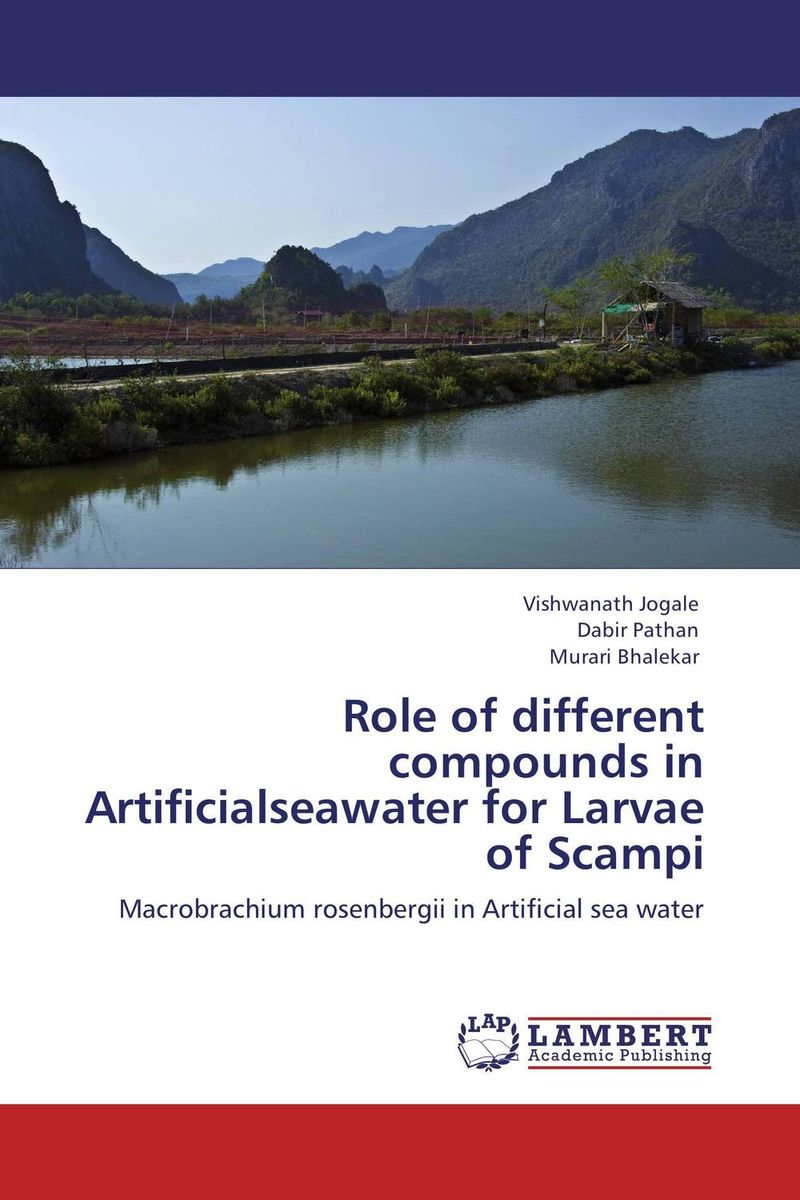 Role of different compounds in Artificialseawater for Larvae of Scampi the role of evaluation as a mechanism for advancing principal practice