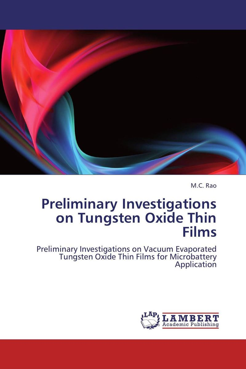 Preliminary Investigations on Tungsten Oxide Thin Films dimensions of state building