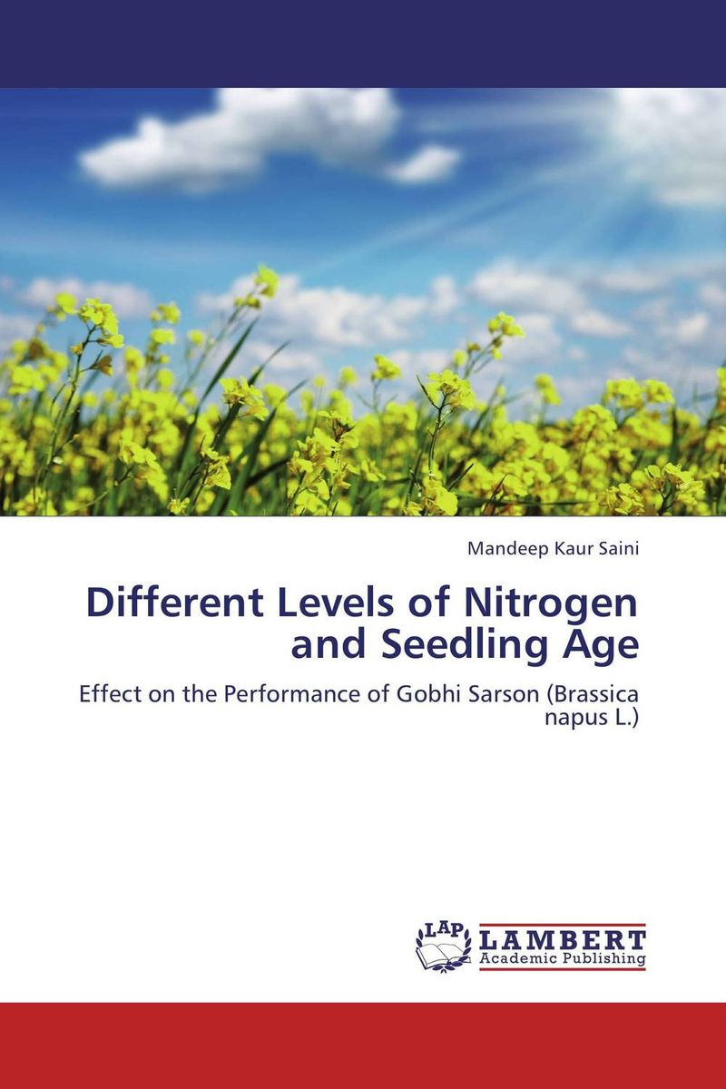 Different Levels of Nitrogen and Seedling Age cleto namoobe and rajender kumar nanwal growth yield and quality of sorghum as influenced by nitrogen levels
