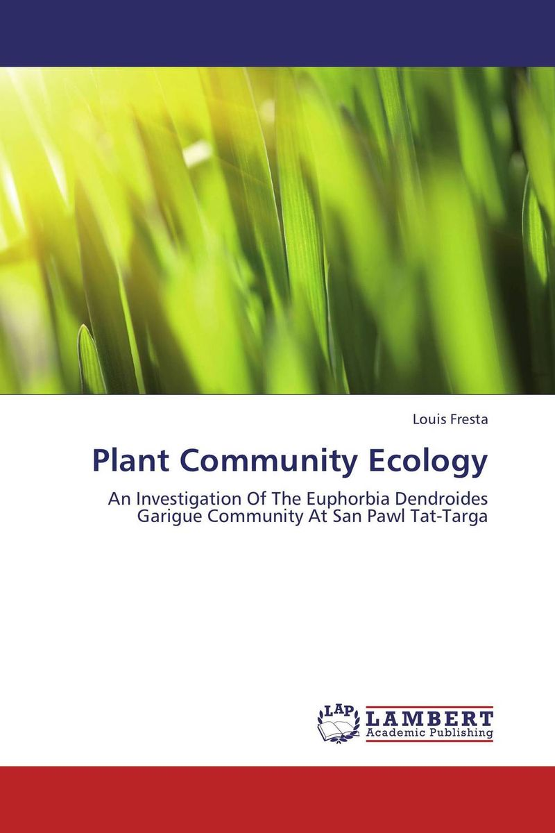 Plant Community Ecology vegetation ecology in nnp