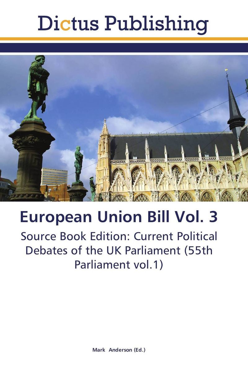 European Union Bill Vol. 3 crusade vol 3 the master of machines