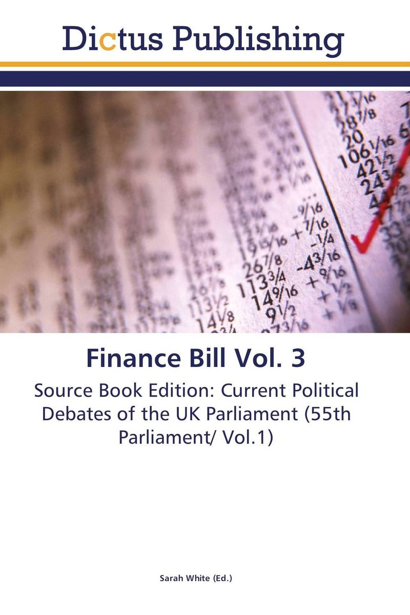 Finance Bill Vol. 3 finance and investments