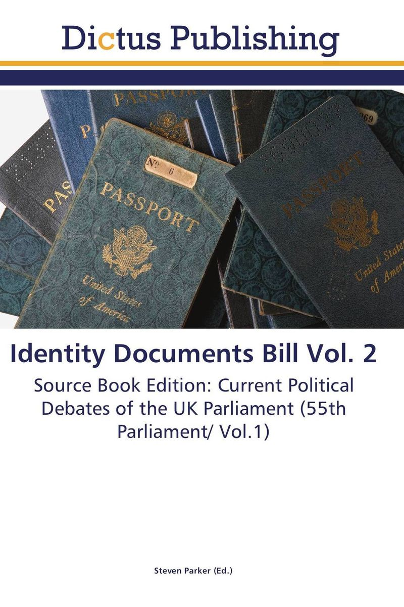 Identity Documents Bill Vol. 2 the identity of the i of the confessions of jeremiah