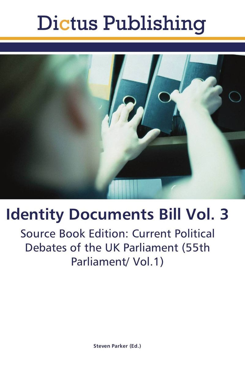 Identity Documents Bill Vol. 3 the identity of the i of the confessions of jeremiah