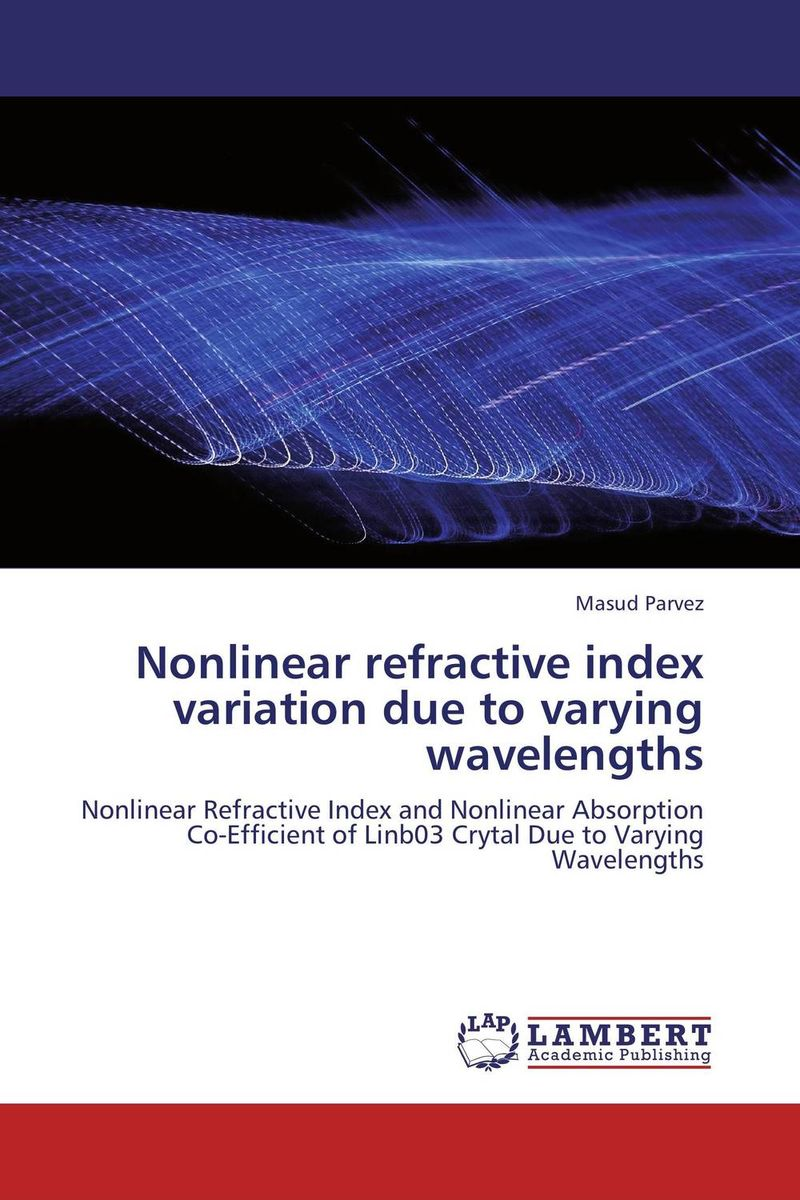 Nonlinear refractive index variation due to varying wavelengths
