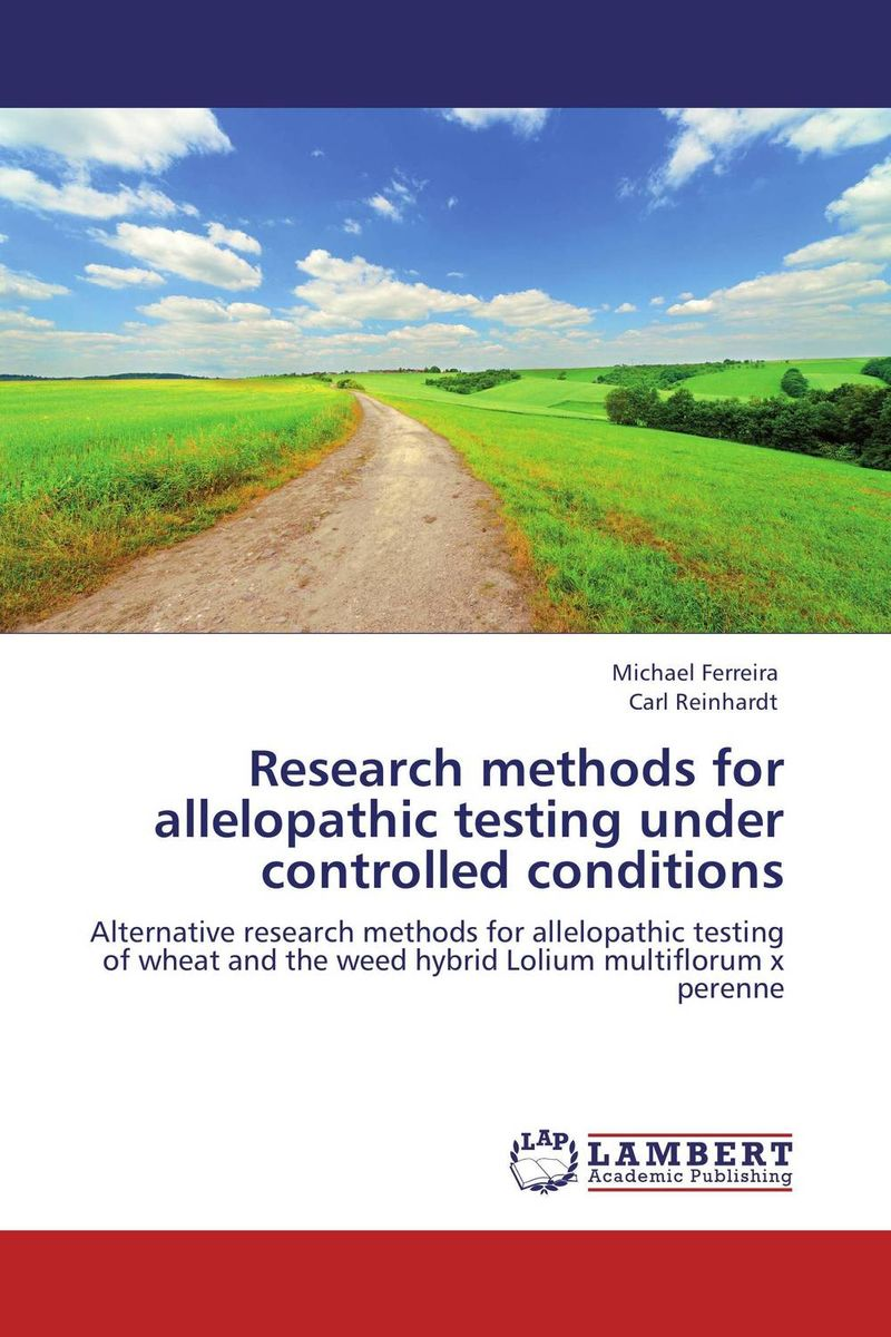 Research methods for allelopathic testing under controlled conditions belousov a security features of banknotes and other documents methods of authentication manual денежные билеты бланки ценных бумаг и документов