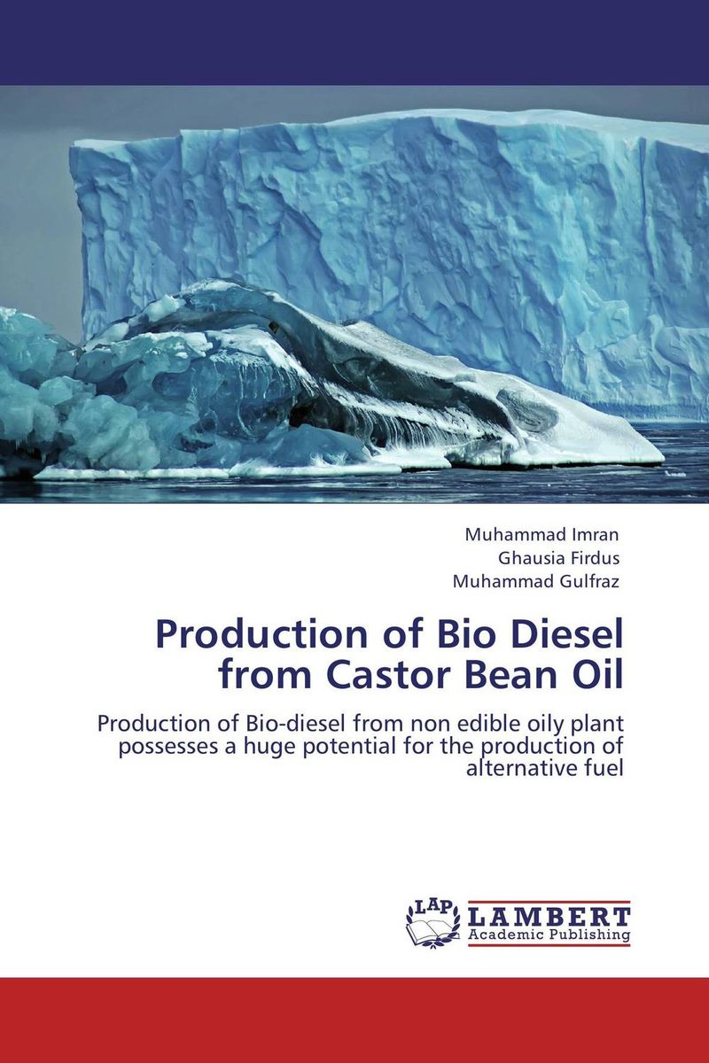 Production of Bio Diesel from Castor Bean Oil sadat khattab usama abdul raouf and tsutomu kodaki bio ethanol for future from woody biomass
