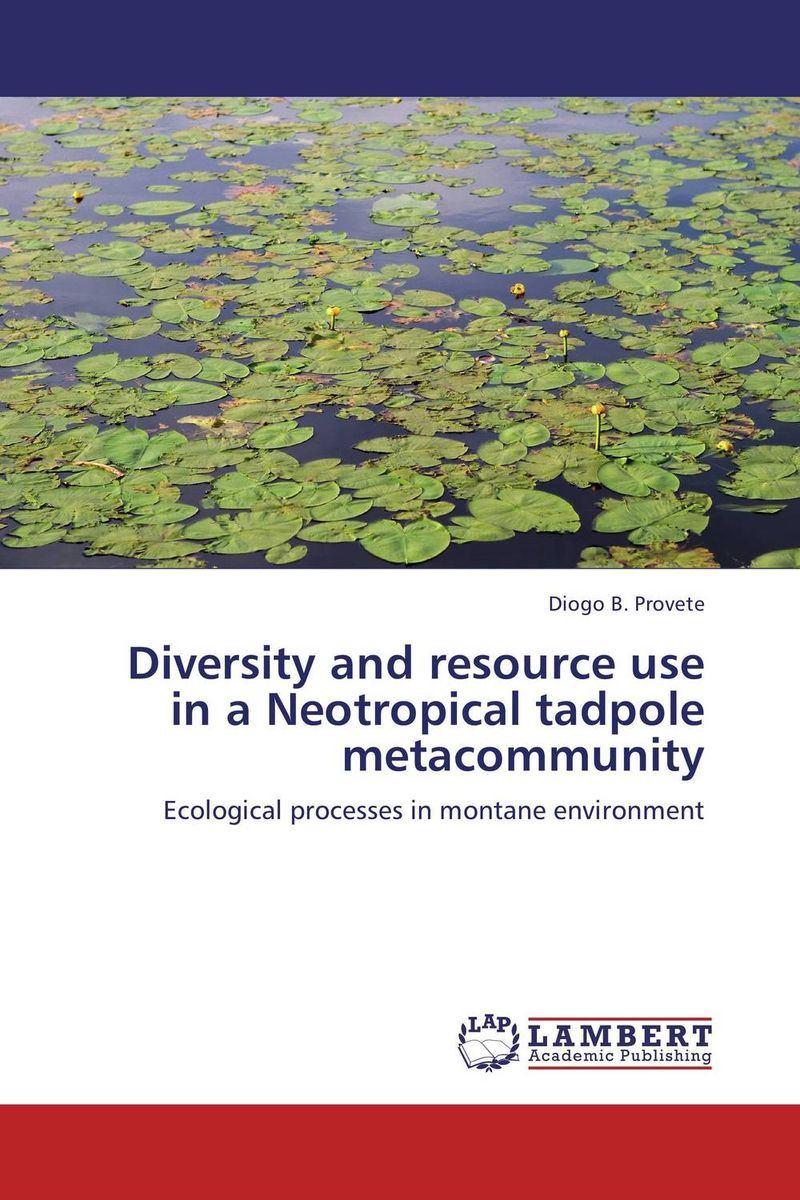 Diversity and resource use in a Neotropical tadpole metacommunity found in brooklyn