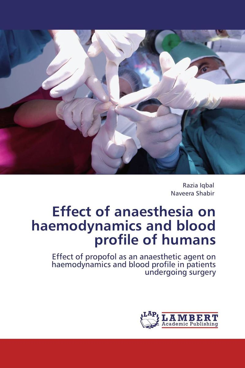 Effect of anaesthesia on haemodynamics and blood profile of humans effect of depression and drugs on sialometry and sialochemistry