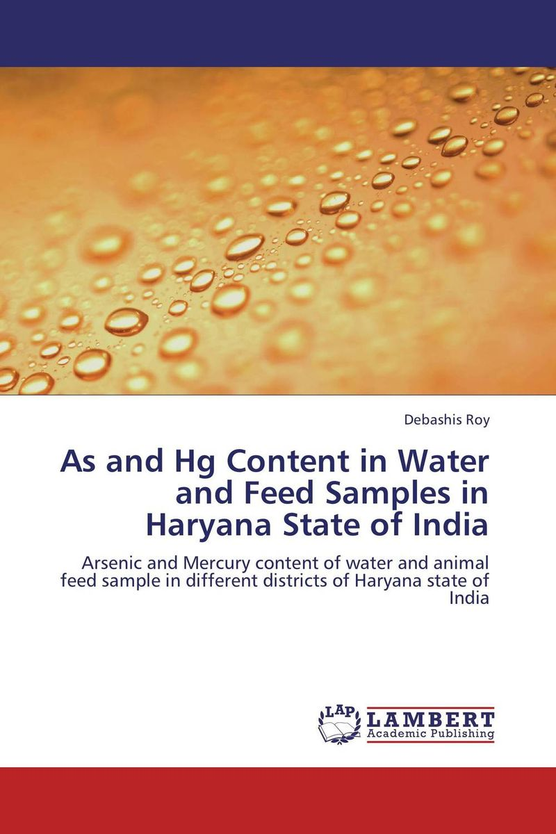 As and Hg Content in Water and Feed Samples in Haryana State of India characterization of listeria from animal product in india