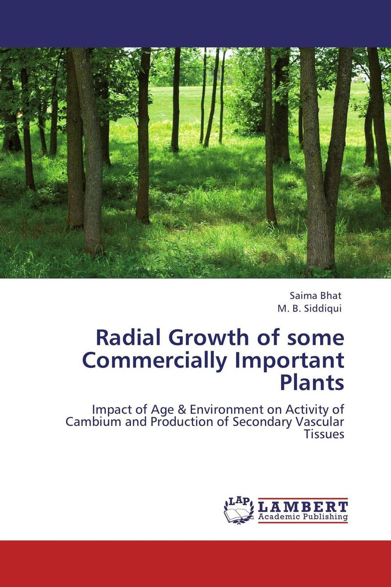 Radial Growth of some Commercially Important Plants found in brooklyn