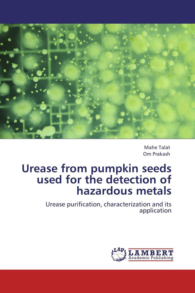 Urease from  pumpkin seeds used for the detection of hazardous metals high quantity medicine detection type blood and marrow test slides