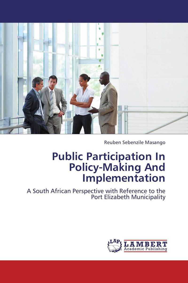 Public Participation In Policy-Making And Implementation colin jones office markets and public policy