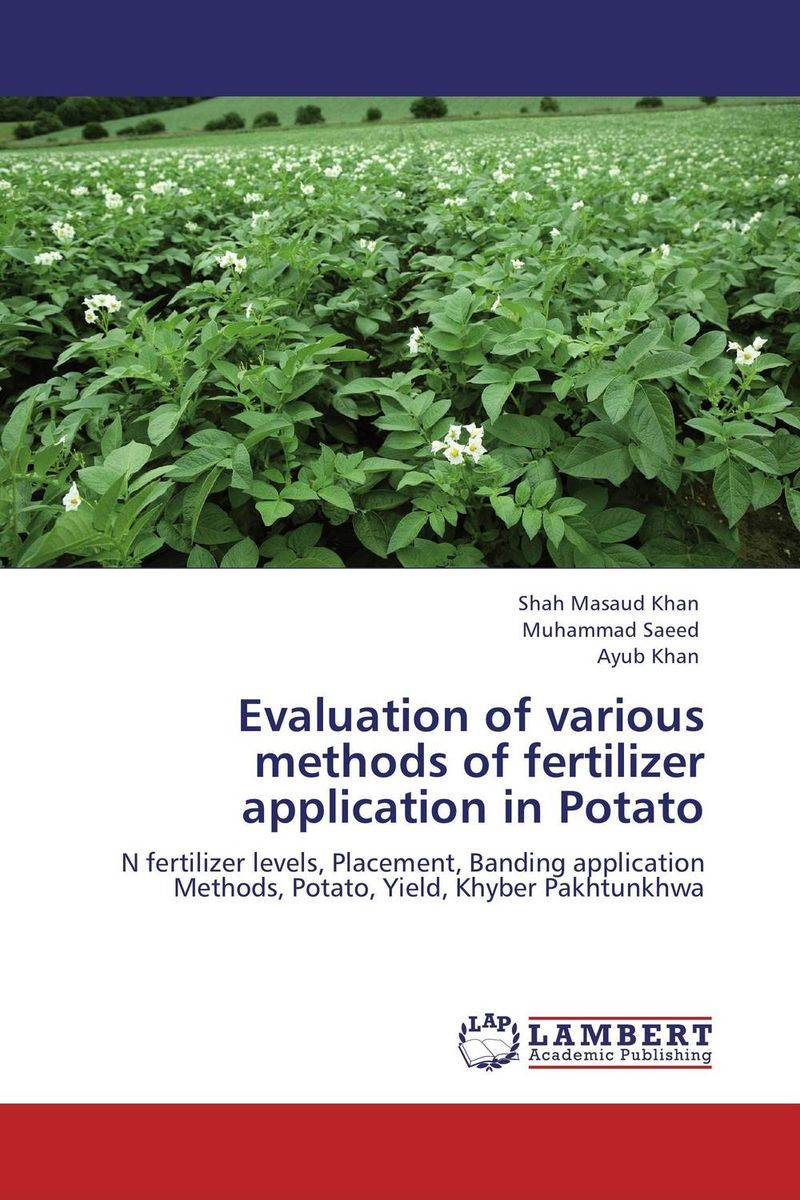 Evaluation of various methods of fertilizer application in Potato evaluation of aqueous solubility of hydroxamic acids by pls modelling