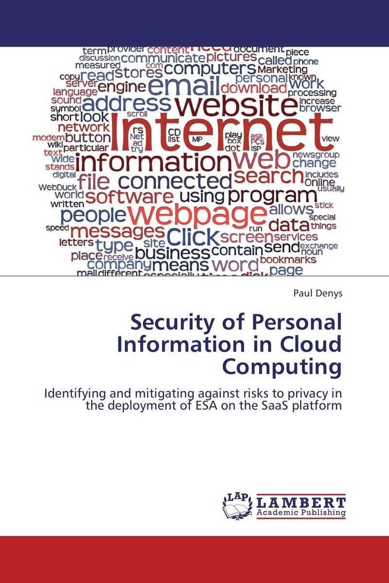 Security of Personal Information in Cloud Computing standards supporting autonomic computing cim