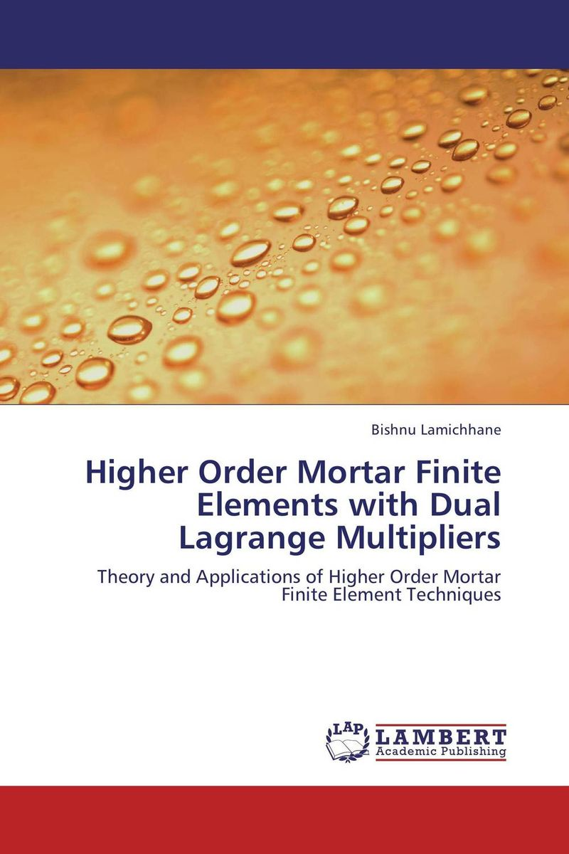 Higher Order Mortar Finite Elements with Dual Lagrange Multipliers j r whiteman the mathematics of finite elements and applications x mafelap 1999