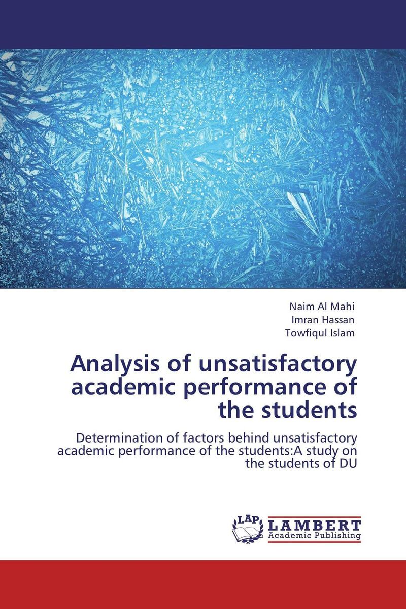 Analysis of unsatisfactory academic performance of the students academic performance of african students in taiwan