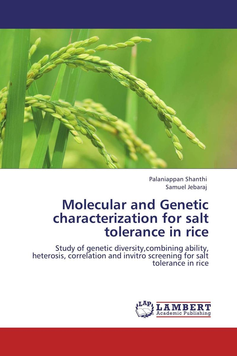 Molecular and Genetic characterization for salt tolerance in rice eman ibrahim el sayed abdel wahab molecular genetic characterization studies of some soybean cultivars