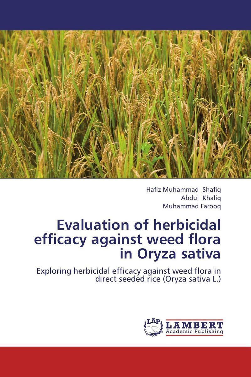 Evaluation of herbicidal efficacy against weed flora in Oryza sativa sanjeev kumar kiran pathania and pawan kumar sharma breeding of rice oryza sativa l