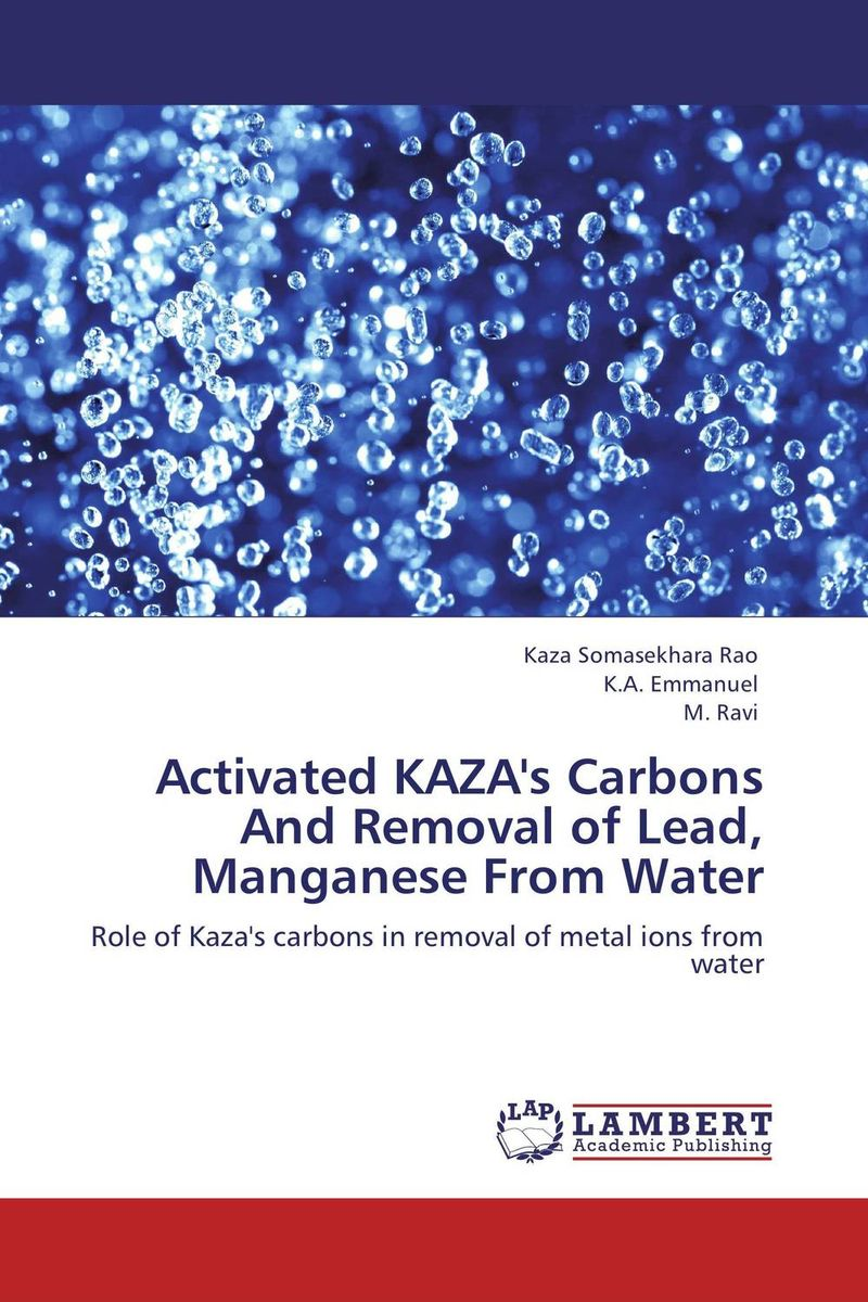 Activated KAZA's Carbons And Removal of Lead, Manganese From Water analysis fate and removal of pharmaceuticals in the water cycle 50