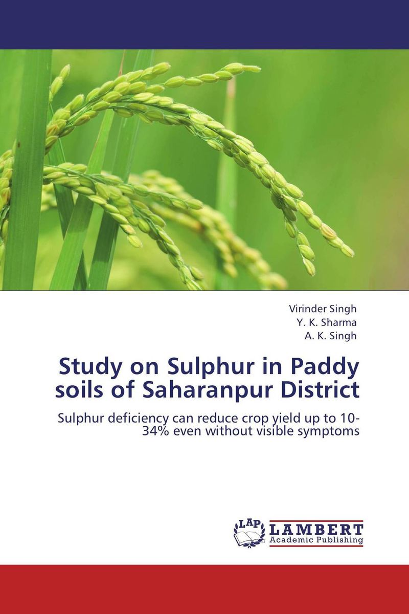 Study on Sulphur in Paddy soils of Saharanpur District nify benny and c h sujatha enrichment of sulphur compounds in the cochin estuarine system