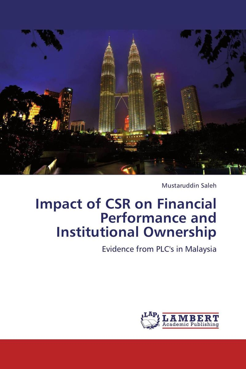 Impact of CSR on Financial Performance and Institutional Ownership the art of shaving дорожный набор с помпой carry on сандал