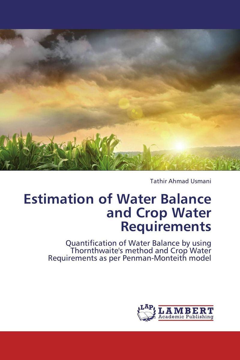 Estimation of Water Balance and Crop Water Requirements bride of the water god v 3