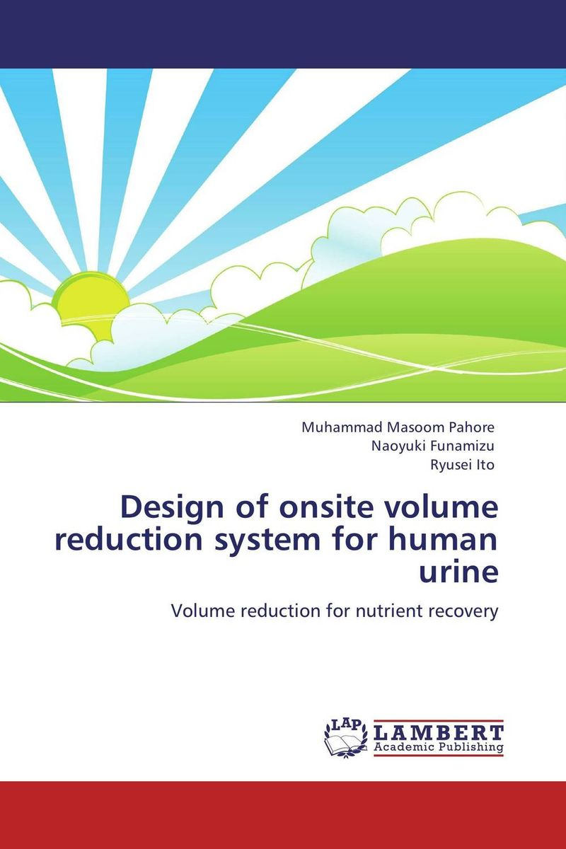 Design of onsite volume reduction system for human urine bride of the water god volume 15