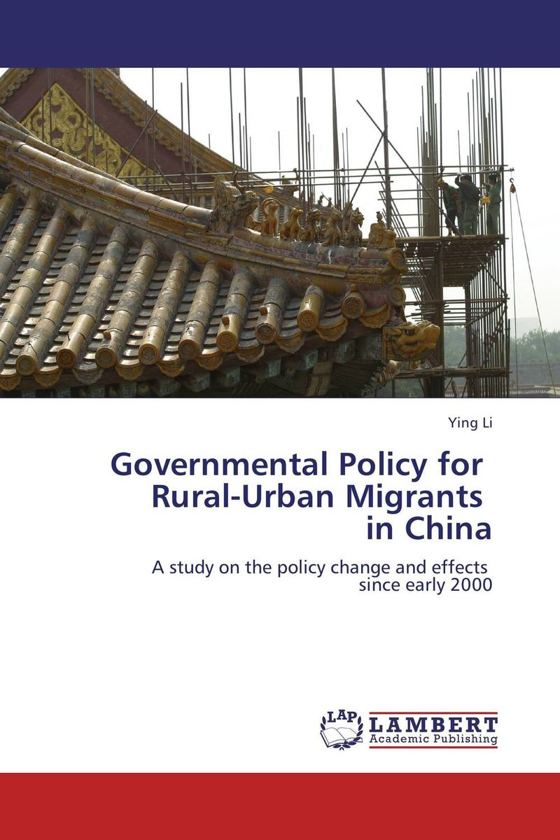 Governmental Policy for   Rural-Urban Migrants   in China garrett social reformers in urban china – the chinese y m c a