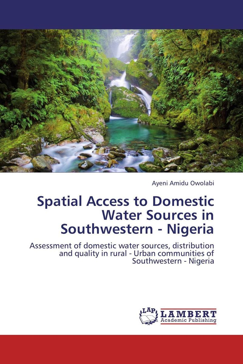 Spatial Access to Domestic Water Sources in Southwestern - Nigeria bride of the water god v 3