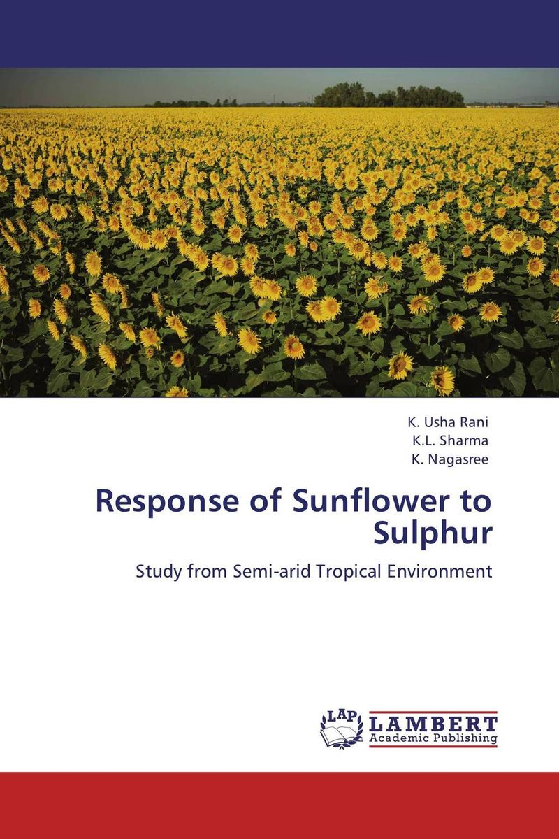 Response of Sunflower to Sulphur nify benny and c h sujatha enrichment of sulphur compounds in the cochin estuarine system