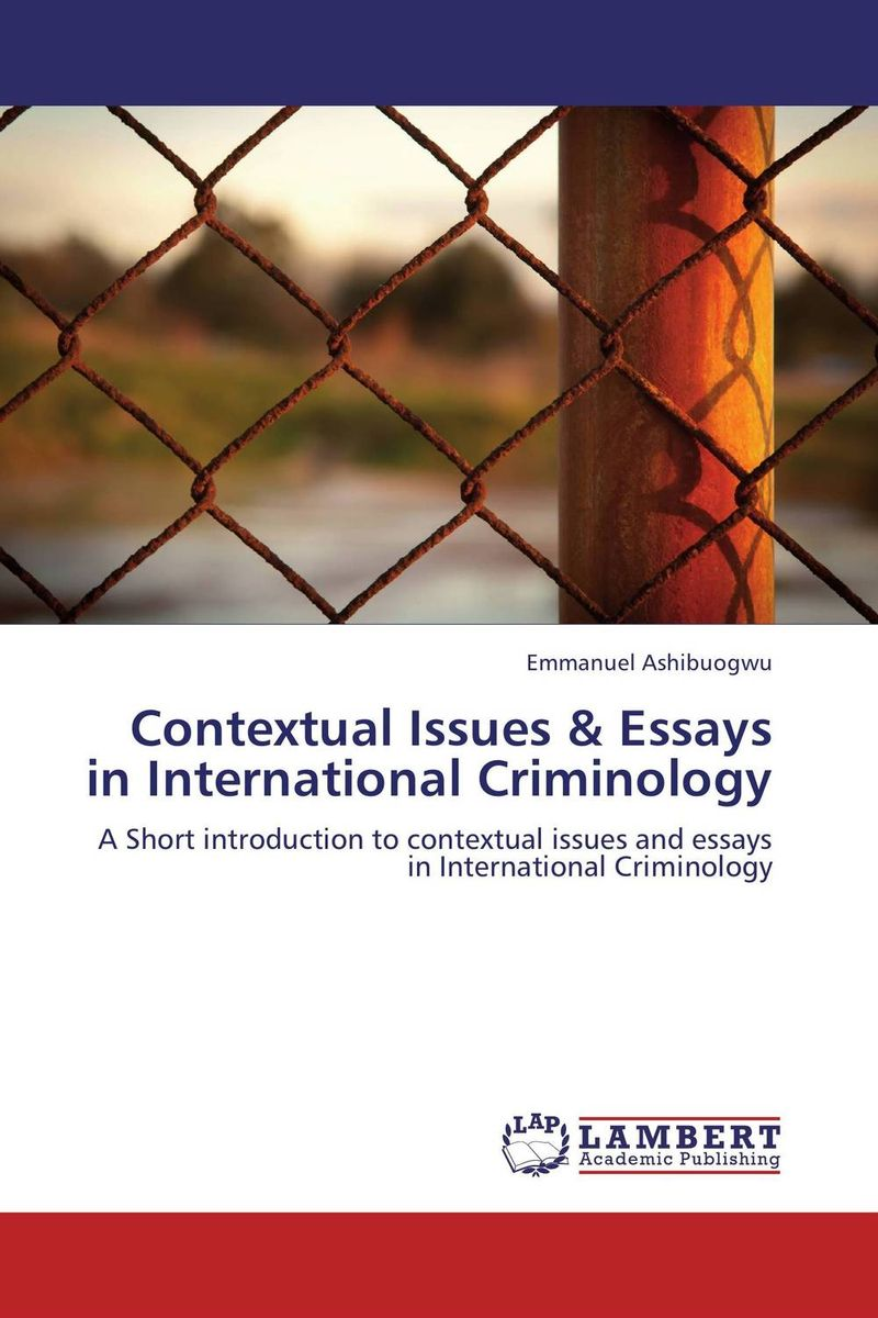Contextual Issues & Essays in International Criminology edited by simon mackenzie and penny green criminology and archaeology