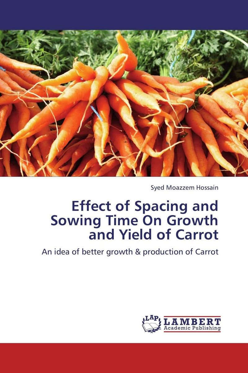 Effect of Spacing and Sowing Time On Growth and Yield of Carrot muqarrab ali asghar ali and muhammad mazhar iqbal effect of planting density and sowing time on cotton crop