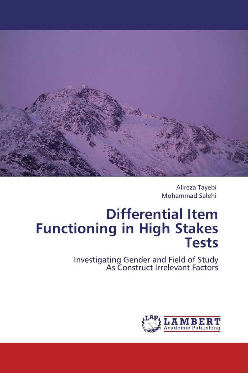 Differential Item Functioning in High Stakes Tests high quantity medicine detection type blood and marrow test slides