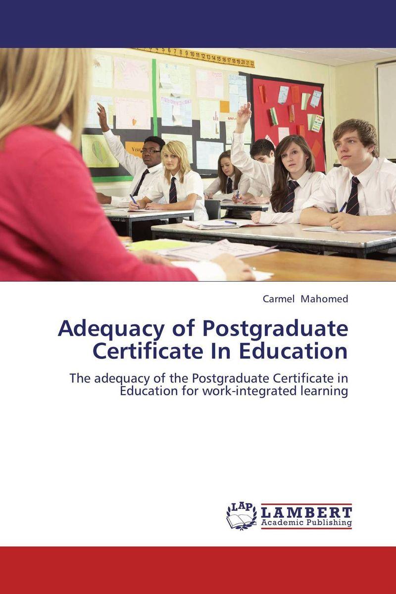 Adequacy of Postgraduate Certificate In Education