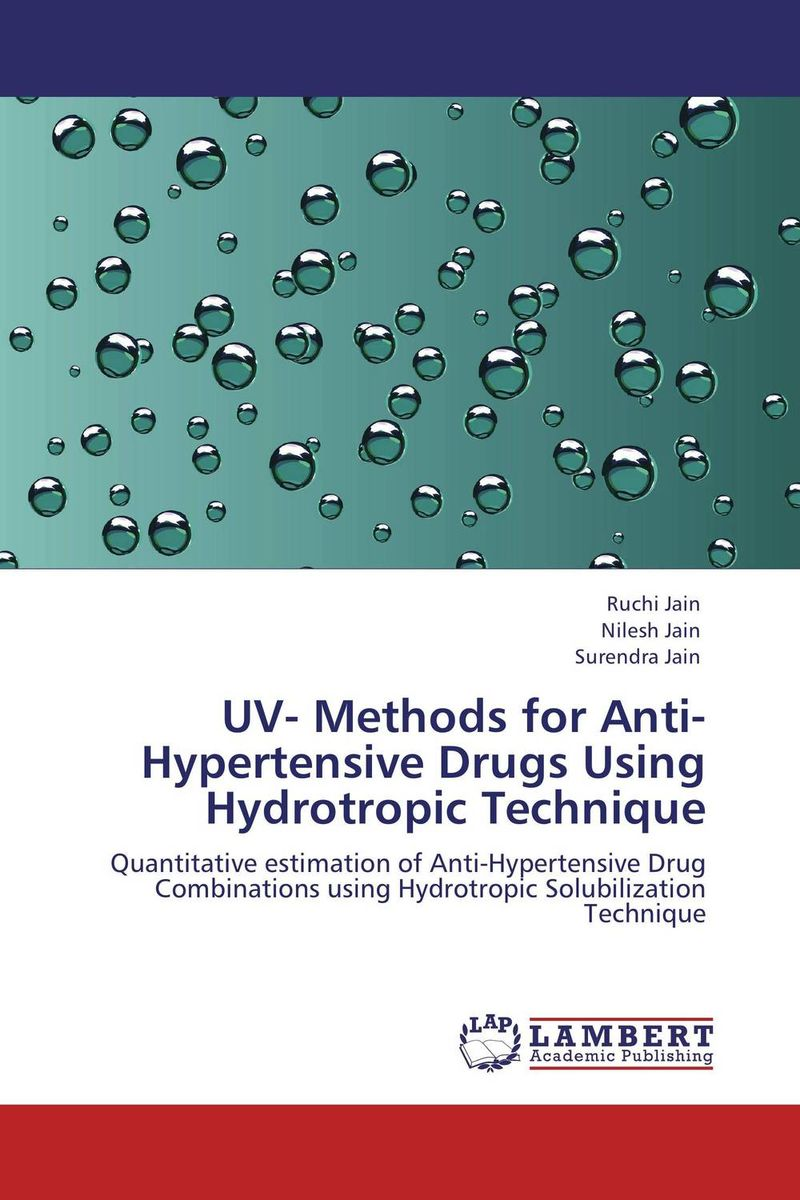 UV- Methods for Anti-Hypertensive Drugs Using Hydrotropic Technique hydrotropic solubilization phenomenon for spectroscopic estimation